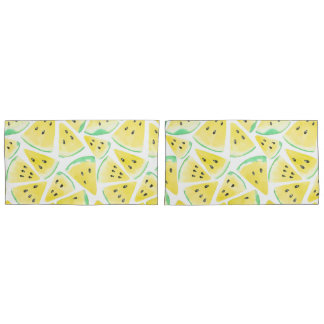 Yellow watermelon slices pattern pillowcase