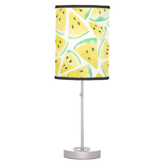 Yellow watermelon slices pattern table lamp