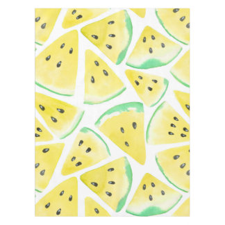 Yellow watermelon slices pattern tablecloth