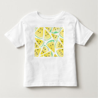 Yellow watermelon slices pattern toddler t-shirt
