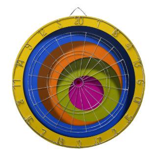 Yellow Whacky Circles Dimensional Look Dartboard