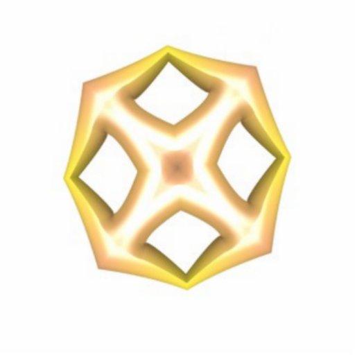 Yellow wheel like shapes photo cutout