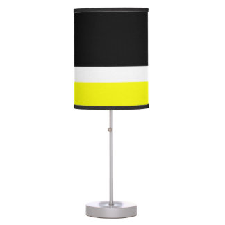 Yellow White Black Colorblock Table Lamp