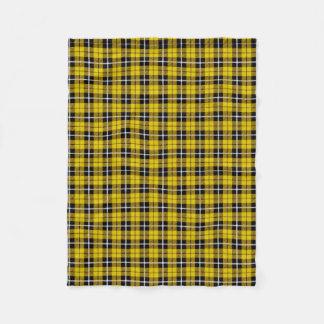 Yellow white/black stripe fleece blanket