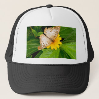 yellow white butterfly moth trucker hat