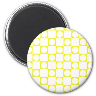 Yellow & White Check Board Magnet