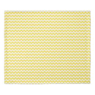 Yellow White Chevron Stripes Duvet Cover