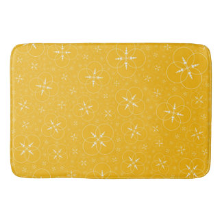 Yellow White Crop Circle Bath Mat