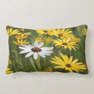 Yellow White flowers Sunny and Positive Pillow