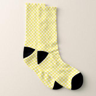Yellow White Lemon Slices Fruit Pattern Socks