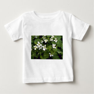 Yellow White Violet (Viola Canadensis) flowers Baby T-Shirt
