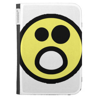 Yellow Whoa Open Mouth Smiley Face Cases For The Kindle