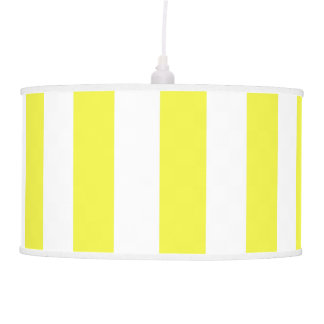 Yellow Wide Vertical Stripe ANY COLOR BACKGROUND Pendant Lamp