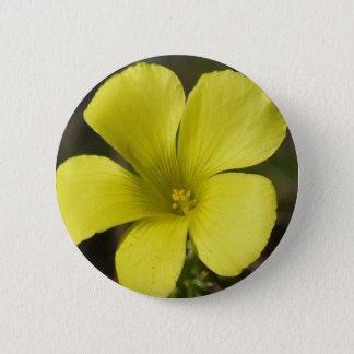 Yellow Wild Flower Button