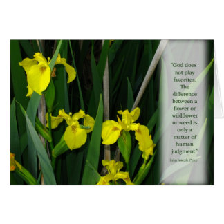 Yellow Wild Irises Card