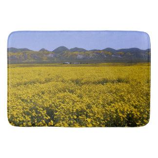 Yellow Wildflower Field Landscape Bath Mat