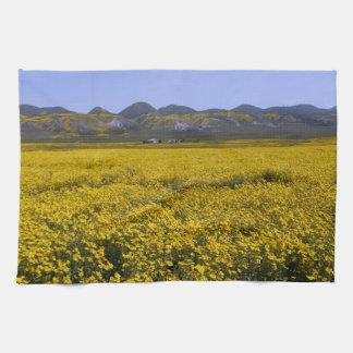 Yellow Wildflower Field Landscape Kitchen Towel