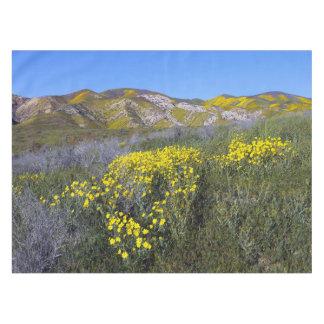 Yellow Wildflower Field Landscape Tablecloth