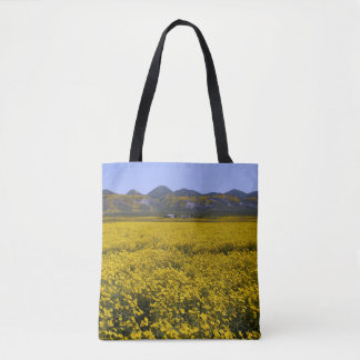 Yellow Wildflower Field Landscape Tote Bag
