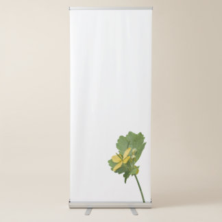 yellow wildflower in the wood retractable banner