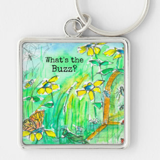 Yellow Wildflowers Bees What's The Buzz Keychain