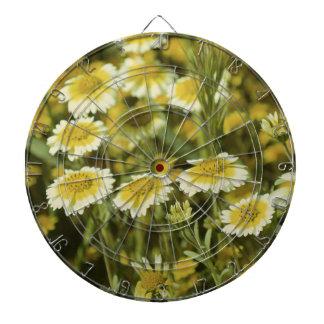 Yellow Wildflowers Dartboard