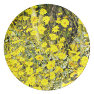 Yellow Wildflowers Melamine Plate