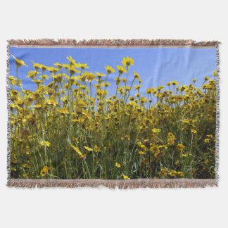 Yellow Wildflowers Throw Blanket