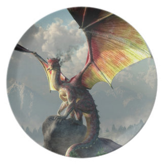 Yellow Winged Dragon Plate