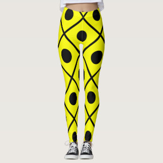 Yellow with Black Dots Leggings