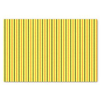 Yellow with Black & Orange Stripes Tissue Paper
