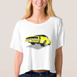 Yellow with Black Stripes '68 Charger T-shirt