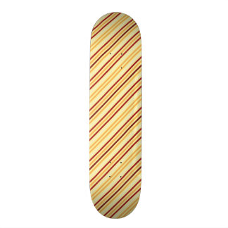 Yellow With Orange Stripes Pattern Skate Board Deck