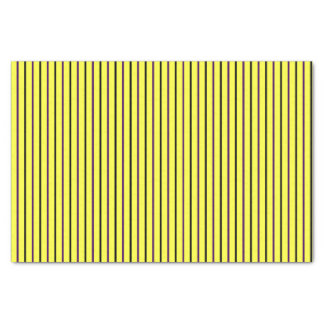 Yellow with Purple & Black Stripes Tissue Paper