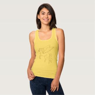 Yellow Women's Slim Fit Racerback Tank Top
