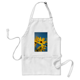yellow woodland sunflowers standard apron