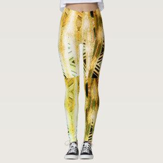 Yellow Woodskin Leggings