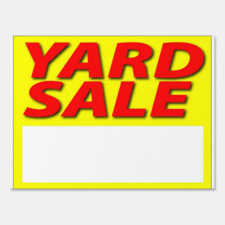 Yellow Yard Sale Sign