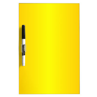 Yellow - Yellow and Chrome Yellow Dry Erase Board