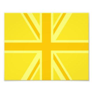 Yellow Yellow Union Jack British Flag Background Photo Print