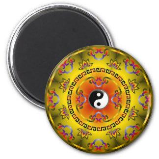 Yellow Yin Yang Magnet