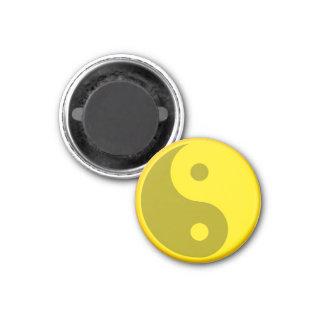 Yellow Yin Yang Spiritual Energy Balance Symbol Magnet