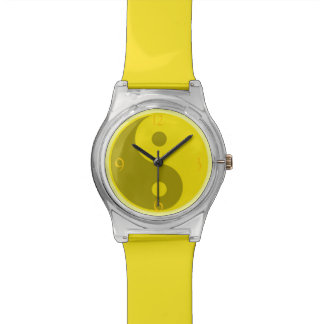 Yellow Yin Yang Yoga Wrist Watch