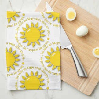 Yellow You Are My Sunshine Kitchen Towel