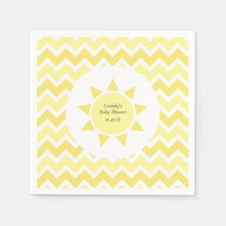 Yellow You are my sunshine theme party Paper Napkin