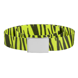 Yellow Zebra Animal Print Belt