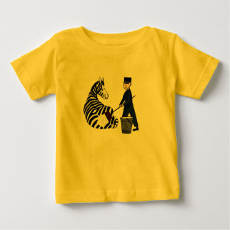 Yellow Zebra French Vintage Zoo Zookeeper Funny T-shirts