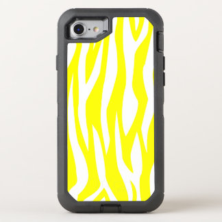 Yellow Zebra Print OtterBox Defender iPhone 7 Case