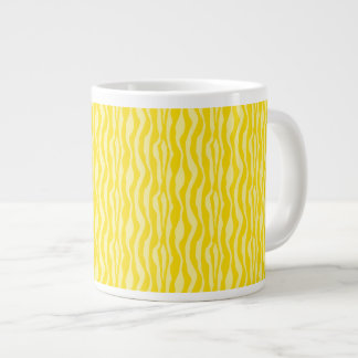 Yellow Zebra Print Pattern Large Coffee Mug