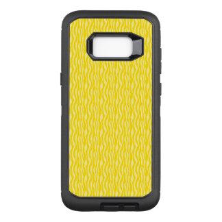 Yellow Zebra Print Pattern OtterBox Defender Samsung Galaxy S8+ Case